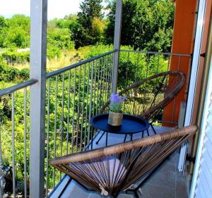 A balcony or terrace at agis apartment corfu