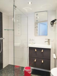 A bathroom at Fremdenzimmer - Petit Quartier