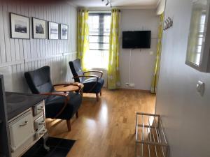 En TV eller et underholdningssystem på Villa Svolvær