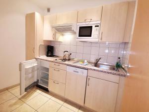 Küche/Küchenzeile in der Unterkunft Appartementhaus Regina