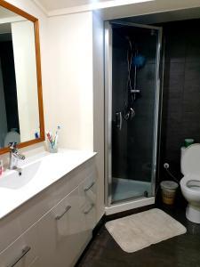 A bathroom at Melbourne Lodge