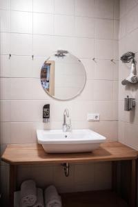 Ein Badezimmer in der Unterkunft Gasthof Fallmühle