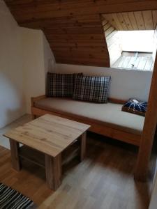 Ein Sitzbereich in der Unterkunft Pension Špejchar u Vojty