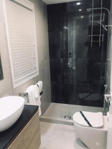 A bathroom at Latitude 37