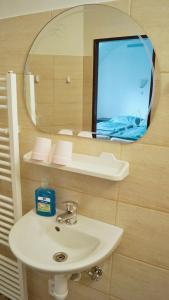 Koupelna v ubytování Penzion U Radů