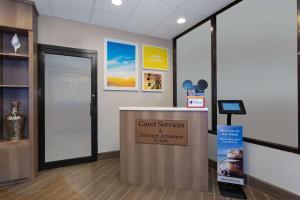 The lobby or reception area at Days Inn by Wyndham Orlando Conv. Center/International Dr