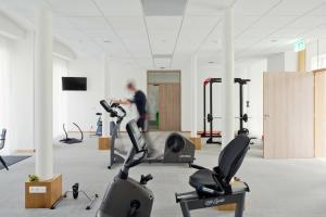 Het fitnesscentrum en/of fitnessfaciliteiten van Hotel Den Briel