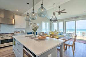 A kitchen or kitchenette at Beachfront Oasis 2 Huge Decks, BBQ and Views!