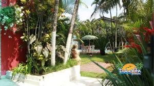 A garden outside Pousada Dolce Vita