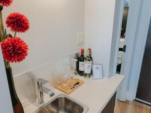 A kitchen or kitchenette at St. James' Gate, Boutique Hotel