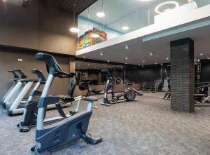 The fitness centre and/or fitness facilities at Bodnar Apartamenty Nadmorskie Tarasy Port