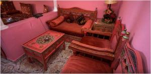 A seating area at Moroccan House