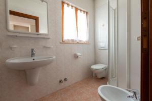 Koupelna v ubytování Chalet Olta