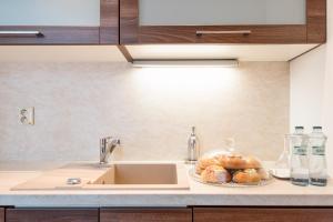 Kuchyňa alebo kuchynka v ubytovaní Penzion Troja