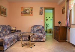 A seating area at Apartma Franko