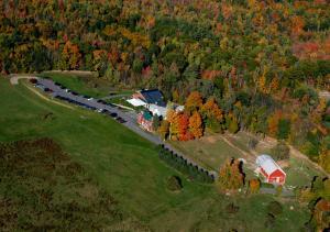 A bird's-eye view of Maple Hill Farm Inn