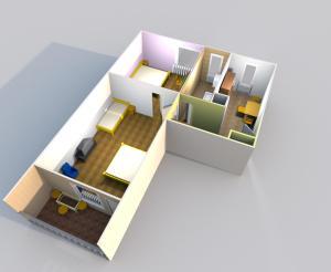 The floor plan of Acceptus Domus
