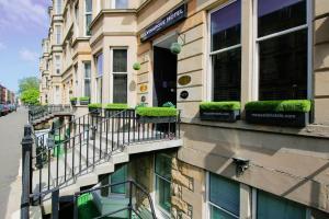 A balcony or terrace at The Kelvingrove Hotel