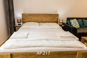 A bed or beds in a room at Fatrapark 2, Ap217
