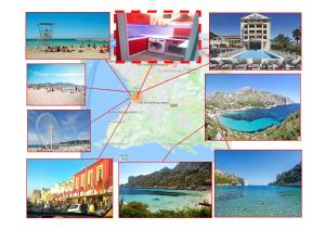 A bird's-eye view of Cozy Apartment, Beach, Local Stores, Rocky Inlet (Calanques)