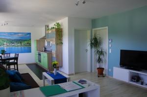 Ein Sitzbereich in der Unterkunft Apartment 541