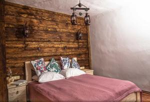 Кровать или кровати в номере Суздаль Спасская Горка