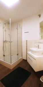 Ein Badezimmer in der Unterkunft Der Schwarze Herrgott
