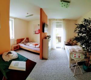 Ein Sitzbereich in der Unterkunft ApartmentHotel Vollumen