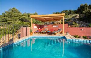 The swimming pool at or close to Stunning home in Vis w/ Outdoor swimming pool and 2 Bedrooms