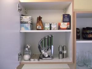 A kitchen or kitchenette at Ferienwohnung Markmann