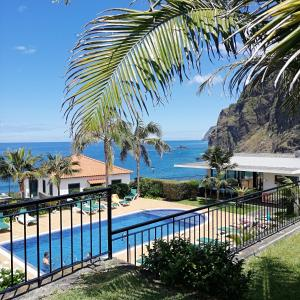 A view of the pool at Casa da Capelinha or nearby
