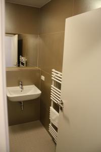 A bathroom at Pension Probstheida GbR