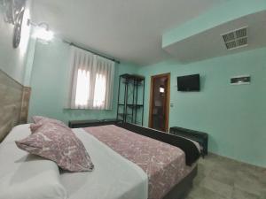 Cama o camas de una habitación en Posada Del Camino Real