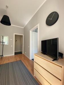 Телевизор и/или развлекательный центр в Apartment on Maiskiy proezd 9