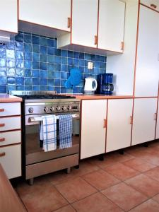 A kitchen or kitchenette at Caribbean Sea View Holiday Apartments