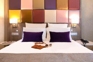 Cama o camas de una habitación en Mercure Budapest Korona