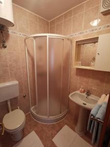 A bathroom at Apartments Porec Istria By Nina