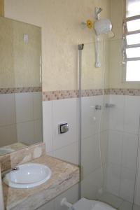 A bathroom at Hotel Scala