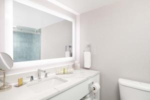 A bathroom at Hilton Los Angeles-Culver City, CA