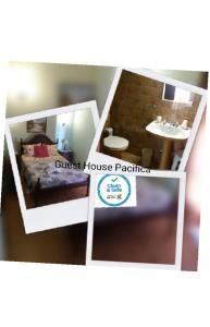 The floor plan of Guest House Pacifica