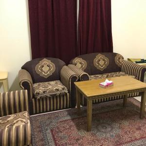 Uma área de estar em Qimat Alrehab