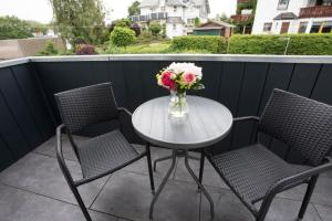 A balcony or terrace at Hotel Forsthaus