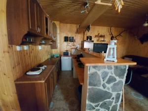 A kitchen or kitchenette at Chalupa Tália