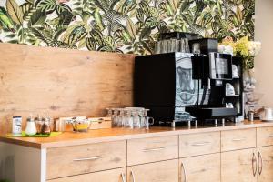 Küche/Küchenzeile in der Unterkunft Sternplatz-Hotel