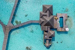 A view of the pool at Gili Lankanfushi Maldives or nearby