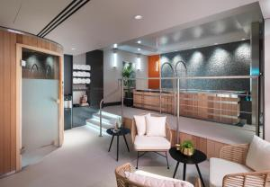 The lobby or reception area at The Athenaeum Hotel & Residences