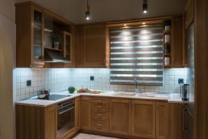 A kitchen or kitchenette at Heraklion Seaside Gem - Olia Private Retreat