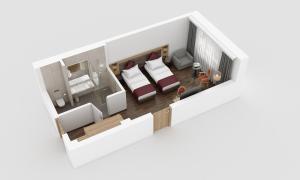 The floor plan of IMLAUER HOTEL PITTER Salzburg