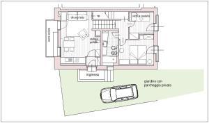 The floor plan of Maison 4 soleil. Casa design luce e natura
