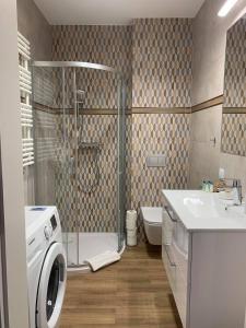 Łazienka w obiekcie Apartamenty Leśna 1